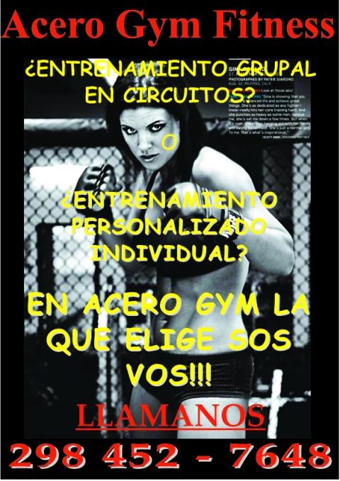 Acero Gym Fitness - Tarifas entrenamiento personalizado